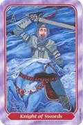 Knight of Swords Tarot card in Spiral Tarot deck
