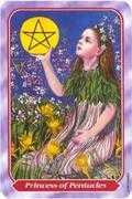 Princess of Pentacles Tarot card in Spiral Tarot deck