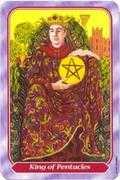 King of Pentacles Tarot card in Spiral Tarot deck