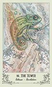 The Tower Tarot card in Spiritsong deck