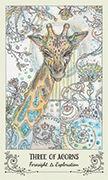 Three of Acorns Tarot card in Spiritsong deck