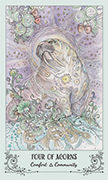 Four of Acorns Tarot card in Spiritsong deck