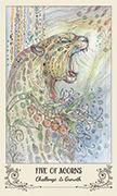 Five of Acorns Tarot card in Spiritsong deck