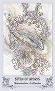 Seven of Acorns Tarot card in Spiritsong deck