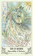 Ten of Acorns Tarot card in Spiritsong deck
