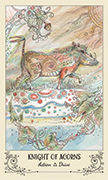 Knight of Acorns Tarot card in Spiritsong deck