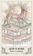 Queen of Acorns Tarot card in Spiritsong deck