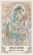 King of Acorns Tarot card in Spiritsong deck
