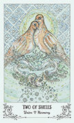 Two of Shells Tarot card in Spiritsong deck