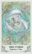 Three of Shells Tarot card in Spiritsong deck