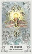 Five of Shells Tarot card in Spiritsong deck