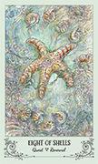 Eight of Shells Tarot card in Spiritsong deck