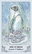 Nine of Shells Tarot card in Spiritsong deck