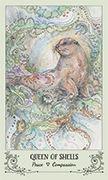 Queen of Shells Tarot card in Spiritsong deck
