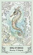 King of Shells Tarot card in Spiritsong deck