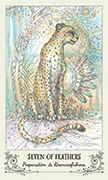 Seven of Feathers Tarot card in Spiritsong deck