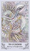 Ten of Feathers Tarot card in Spiritsong deck