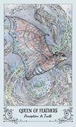Queen of Feathers Tarot card in Spiritsong deck