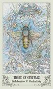 Three of Crystals Tarot card in Spiritsong deck