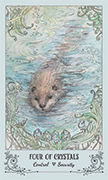 Four of Crystals Tarot card in Spiritsong deck