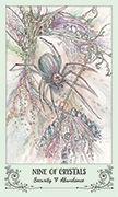 Nine of Crystals Tarot card in Spiritsong deck