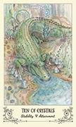 Ten of Crystals Tarot card in Spiritsong deck