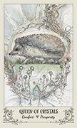 Queen of Crystals Tarot card in Spiritsong deck