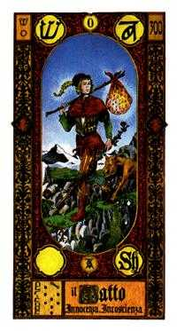 The Foolish Man Tarot Card - Stairs Tarot Deck