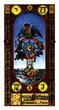 The Wheel of Fortune Tarot Card - Stairs Tarot Deck