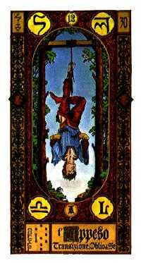 The Lone Man Tarot Card - Stairs Tarot Deck
