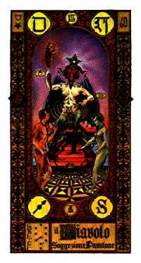 The Devil Tarot Card - Stairs Tarot Deck