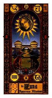 The Moon Tarot Card - Stairs Tarot Deck
