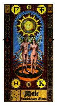 The Sun Tarot Card - Stairs Tarot Deck