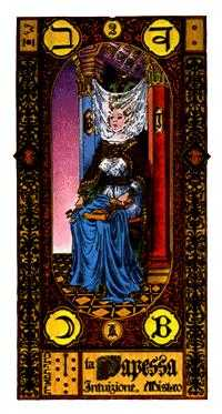 The High Priestess Tarot Card - Stairs Tarot Deck
