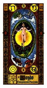 The World Tarot Card - Stairs Tarot Deck