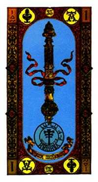 Ace of Rods Tarot Card - Stairs Tarot Deck