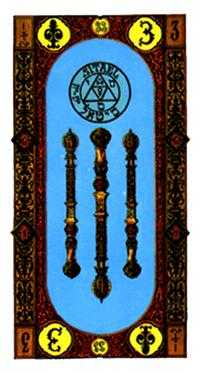 Three of Pipes Tarot Card - Stairs Tarot Deck