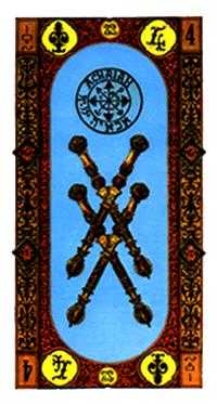Four of Wands Tarot Card - Stairs Tarot Deck