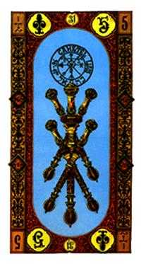 Five of Wands Tarot Card - Stairs Tarot Deck