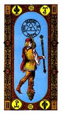 Slave of Sceptres Tarot Card - Stairs Tarot Deck