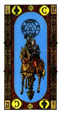 Knight of Clubs Tarot Card - Stairs Tarot Deck
