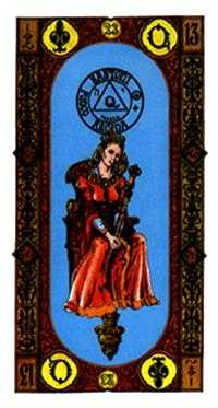 Queen of Clubs Tarot Card - Stairs Tarot Deck