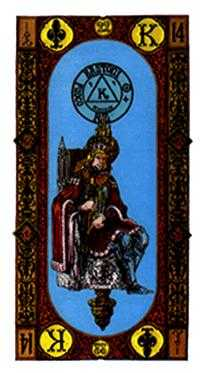 King of Staves Tarot Card - Stairs Tarot Deck