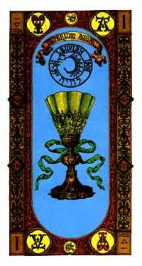 Ace of Bowls Tarot Card - Stairs Tarot Deck