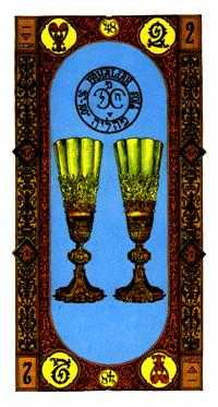 Two of Cups Tarot Card - Stairs Tarot Deck