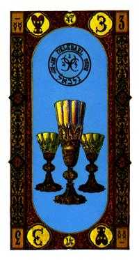 Three of Cups Tarot Card - Stairs Tarot Deck