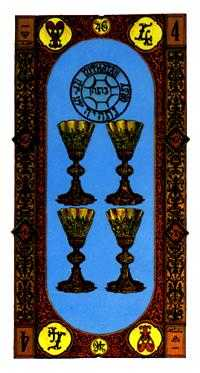 Four of Cups Tarot Card - Stairs Tarot Deck