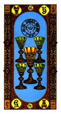 Five of Water Tarot Card - Stairs Tarot Deck