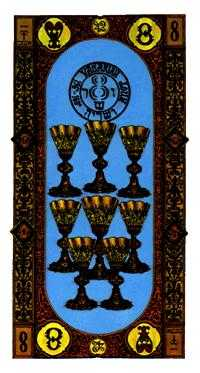 Eight of Cups Tarot Card - Stairs Tarot Deck