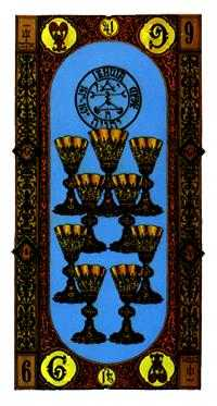 Nine of Cups Tarot Card - Stairs Tarot Deck